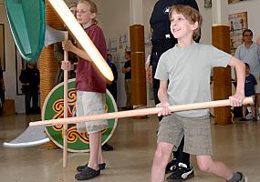 Viking combat training for younger Vikings